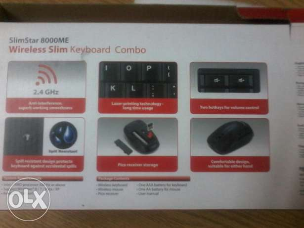 Wireless slim keyboard combo and mouse