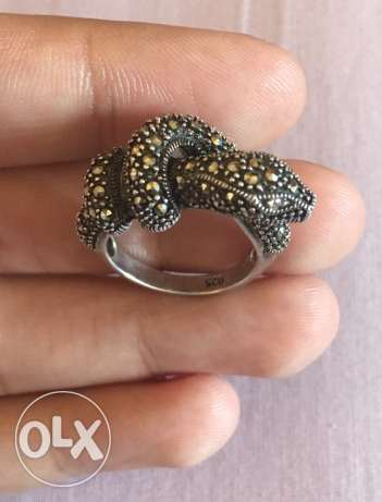 snake silver Ring size 17. 6.5 gm