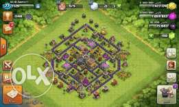 Clash of clan town 8