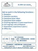 Job Opportunity , Marketing Males & Females in ( Aldar Real Estat )