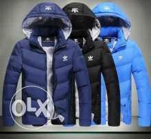 Adidas jacket water proof اديداس اسود تقيل