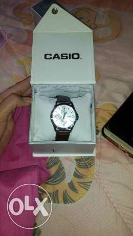Casio leathrr watch brand new never usedew