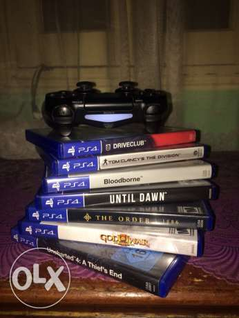 PS4 500GB with box and 7 games CD مدينة نصر -  7