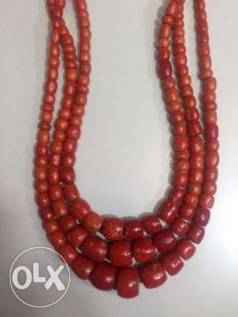 Old red coral necklace