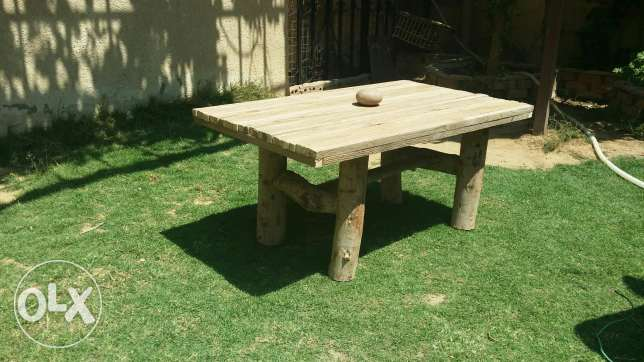 100% hand made table