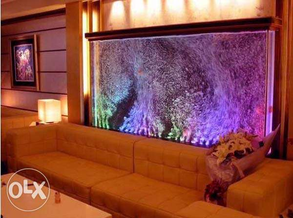 for modern living rooms water bubble panels for relaxation