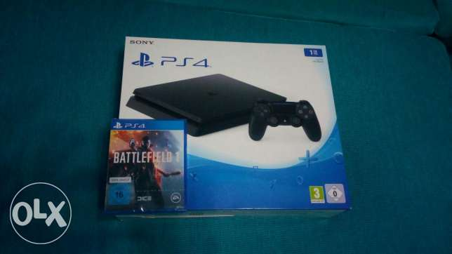 Playstation 4 (slim 1 tera)+ battlefield 1