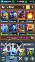 clash royal level 10 arena 8 w 3legendry cards