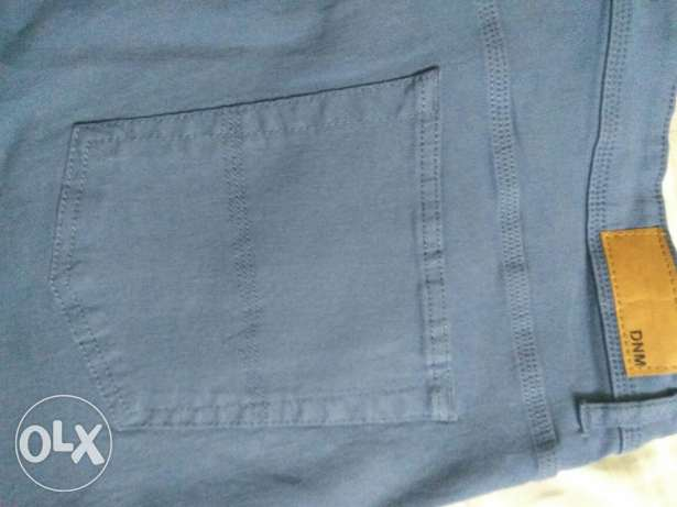 Navy Blue Jeans pants Mixed with Cotton SlimFit Size 36