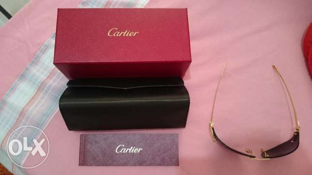 cartier sunglass gold plated