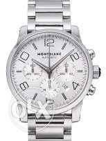Montblanc Blue and Silver Dial Watch For Men