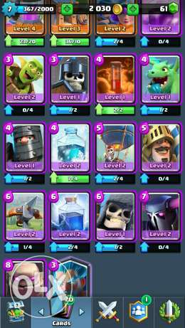 Clash royale account 15 epic 1 legendary Arena 7 الهرم -  1