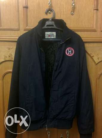 Tommy hilfiger men jacket with logo جاكيت كحلي