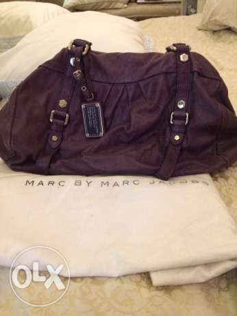 brushed deep purple leather MARC JACOBS bag and cross body