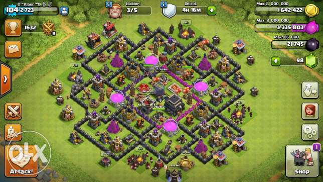 Clash of clans تاون 9 الساحل -  2