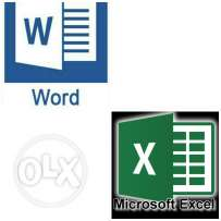 Microsoft office word & excel