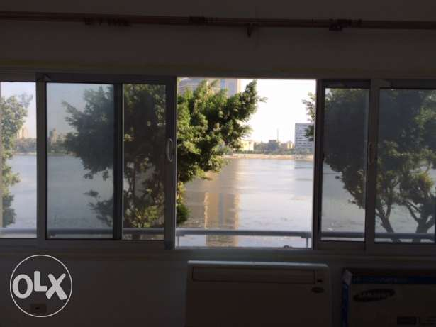 Nile view zamalek appartment fully furnished for rent. terrace 16m sq