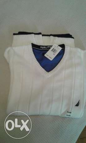 Nautica pullover white colour xxl القاهره -  1
