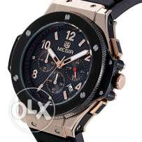 MEGIR Chronograph 6 Hands 24 Hours Function Men Sport Watch Silicone