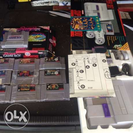 Super Nintendo with 10 Games