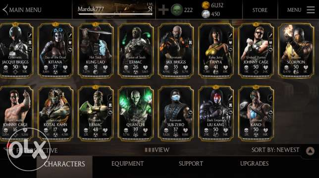 mortal kombat x account