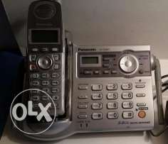 تلفون لاسلكي وأنسرماشين : Panasonic Cordless phone & Answering 5.8GHz
