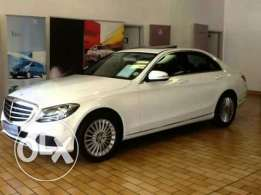 mercedes c180 exclusive white in color