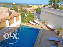 El Gouna villa for rent, very close and privacy swimming pool