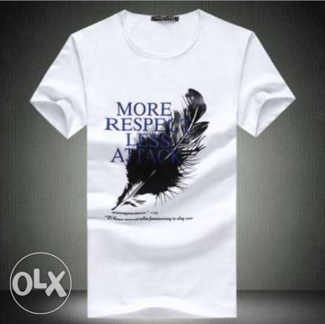 T-shirt white cotton - size (L)