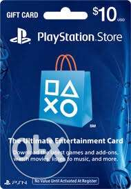 playstation gift cards 10$