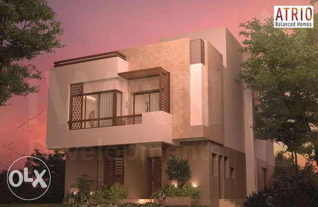 vila in atrio compound fully finished 6 years instalment الشيخ زايد -  1