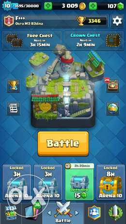 Clash royale level 10 arena 10, 6 legendary cards