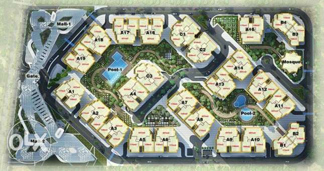 Apartment for sale in AKOYA compound (immediate delivery and 5 year