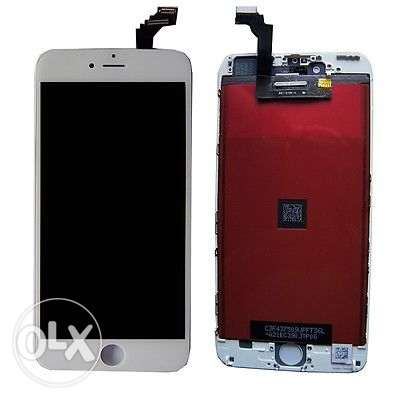 White Replacement LCD Screen Touch Digitizer Frame Assembly for iPhone