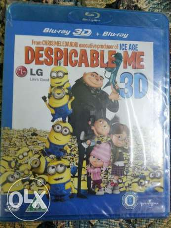 Despicable Me 3D and Blue ray