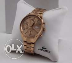 Lacoste woman rose gold new and original watch