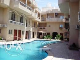Hurghada. Nice furnished 2 bedroom apartment in compound for sale.