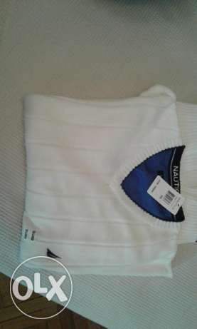 Nautica pullover white colour xxl القاهره -  3