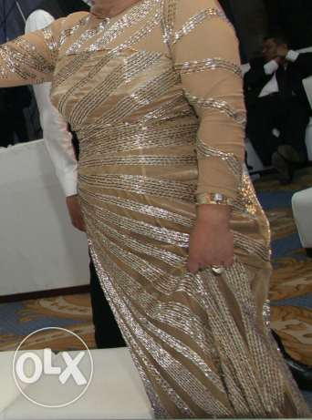Golden hand made Haute couture dress from the designer Samah Mahran