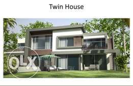 Twin House First Row in Golf views project 6th of October / Palm hills