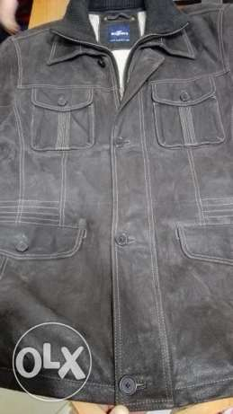 Engbers natural leather jacket xl / 54 جاكيت جلد طبيعي الماني مقاس 54