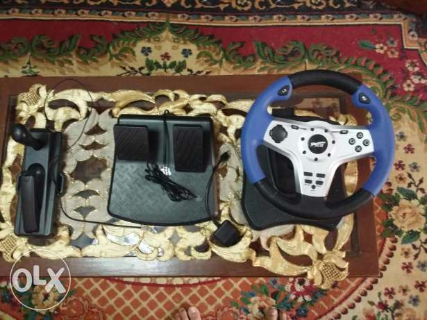 Steering wheel for pc and ps3 and ps2 عجلة قيادة