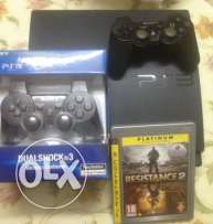 PS3 slim perfect condition للجادين فقط