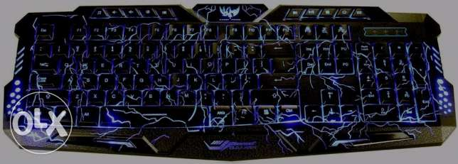 BlueFinger Crack Gaming Keyboard with Small Mouse Pad **جديد متبرشم**