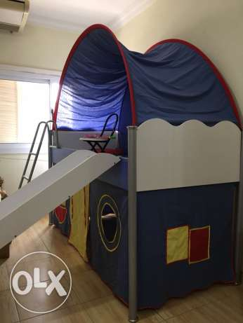 Branded Bed, tented with play house for kid (New)
