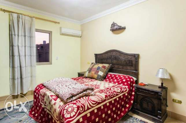 Flat for rent with furn and 2 room with ac 6th October city or shearin