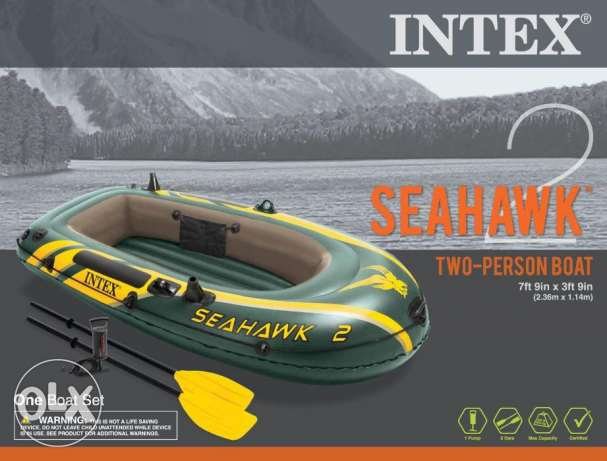 Intex Inflatable Boat قارب مركب زودياك كاياك سبيد صيد مطاطي سي هوك 2 الغردقة -  3