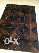 new leather cowhide patchwork rug 175 by 120 cm