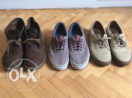 men's vans shoes and clark's boots for sale
