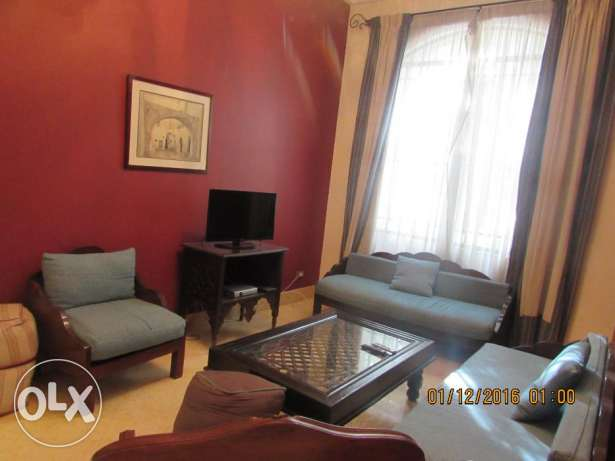 for Rent flat furnished 3 rooms 3 bathroom in very cool road 9 maadi المعادي -  1